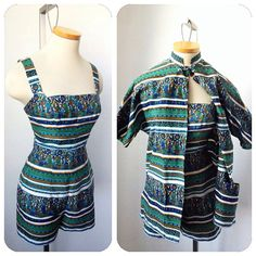 Vintage 1950s Rose Marie Reid Romper Playsuit Jacket by hipsmcgee, $175.00