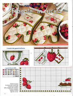Cross Stitch Fruit, Cross Stitch Kitchen, Mini Cross Stitch, Cross Stitch Charts, Food Patterns, Hand Embroidery Patterns, Cross Stitch Patterns, Cross Stitching, Cross Stitch Embroidery