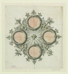 Más tamaños | Marly-le-Roy, château - dessin de la rosace centrale du plafond de la chambre du roi, 1692 | Flickr: ¡Intercambio de fotos!