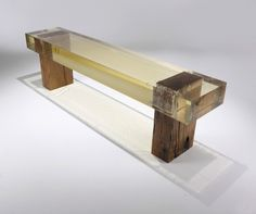 """Wood Fossil"""" Bench,"""