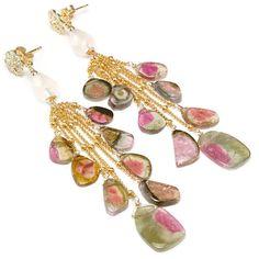 Watermelon Tourmaline luxury earrings Rose by JewelleryHaven