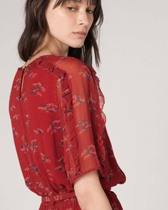 Bringing Lady in Red to boho. Sessun's floral dress is the perfect garment to combine with a leather jacket and leather boots for the ultimate grunge-boho vibes. Shop yours at https://www.atterley.com/the-edit/trend-focus-lady-in-red