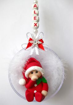 Fimo Christmas Bauble http://www.topthatcards.co.uk/ourshop/prod_2226860-Babys-First-Christmas-Bauble-Red.html