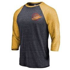 Celebrate your fervent Anaheim Ducks fandom when you slip on this one-of-a-kind Refresh Shift ¾-sleeve raglan T-shirt from Fanatics Branded. You'll feel like the most dedicated Anaheim Ducks supporter when you root for them in this amazing top! Pittsburgh Penguins Gear, Pittsburgh Sports, Penguin T Shirt, Penguin S, Vancouver Canucks, Raglan T-shirt, Anaheim Ducks, Boston Bruins, Black Gold