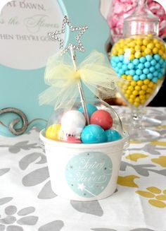 Magic wand fairy candy cup favor tutorial