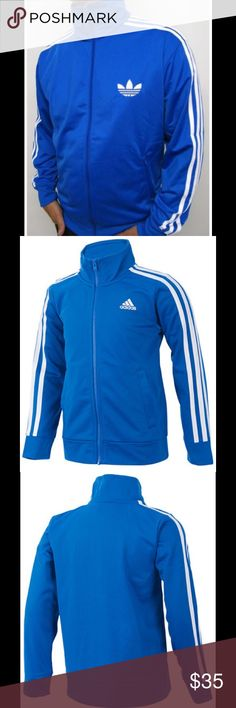 ADIDAS original track suit jacket c: blue size: L ADIDAS original track suit jacket color: blue size: L in great condition adidas Jackets & Coats