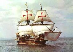 three masted galleon golden hinde was one of the first of her kind The ship of Sir Francis Drake commission by England to explore and claim lands in the New World Golden Hind, Hms Bounty, Famous Pirates, Drake, Pirates Cove, Full Sail, Sir Francis, Love Boat, All In The Family
