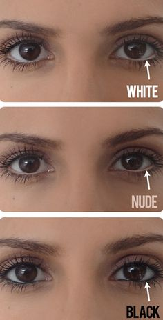 Make your eyes appear larger with a nude eyeliner on your water line! -- Makeup tips and tricks for beginners, teens and even experts! These beauty hacks and step-by-step tutorials are perfect for women of any age, older or younger. Easy ideas and life hacks every girl should know. :) Listotic.com