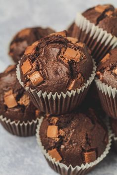 Double Chocolate Muffins - Incredibly moist and delicious bakery-style chocolate muffins that are infused with vanilla, and stuffed full of chocolate chips. The BEST chocolate chocolate chip muffins! Chocolate Easter Cake, Double Chocolate Chip Muffins, Chocolate Meringue, Best Chocolate, Baking Chocolate, Chocolate Chocolate, Best Dessert Recipes, Cupcake Recipes, Easy Desserts