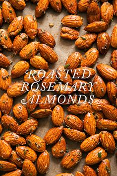 Roasted Rosemary Almonds: 2 cups whole raw almonds, 2 tbsp Fresh or dried rosemary, 2 tsps kosher salt, 1/4 tsp freshly-ground pepper, 1 tbsp olive oil, 1 tsp cayenne. Mix all together, make sure almonds are coated. Bake 325º in one layer 20 mins or until lightly golden. Cool and store in air tight container. For full recipe. SO yummy! blog.jchongstudio.com