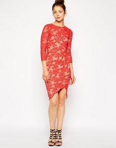 44905cc947 AX Paris Bodycon Lace Dress with Wrap Skirt Mannequin
