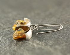 Amber earrings amber jewelry natural amber by SylviaArtGallery