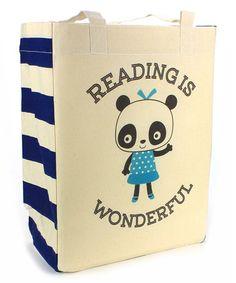 'Reading Is Wonderful' Panda Tote