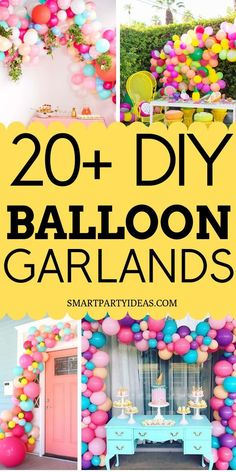 Gorgeous Dollar Store DIY Balloon Garland Ideas Balloon garlands make the perfect focal point for any party. Here are gorgeous DIY Balloon Garland Ideas that are guaranteed to glam up your next party. Baloon Garland, Diy Garland, Garland Ideas, Balloon Decorations, Birthday Party Decorations, Balloon Ideas, Balloon Decoration For Birthday, Decoration Party, Diy Ballon