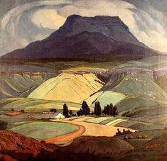 1929 by Jacobus Hendrik Pierneef (South African, Majuba Natal, South… Abstract Landscape, Landscape Paintings, Illustrations, Illustration Art, South African Artists, Art For Art Sake, Art Graphique, African History, Painting Inspiration