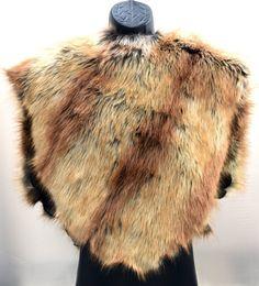 Mad Max Fake Fur Cape Cloak Shrug Game of Thrones by LuvWarrior
