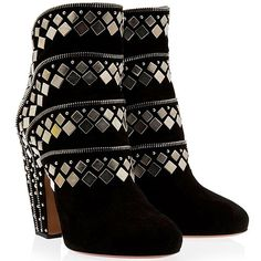 Alaia stud and zip suede ankle boots