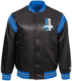 Starter Men s Detroit Lions The Enforcer Satin Jacket Men - Sports Fan Shop  By Lids - Macy s 64f7eaa6a