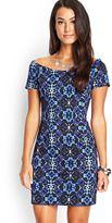 forever 21 kaleidoscopic boat neck dress