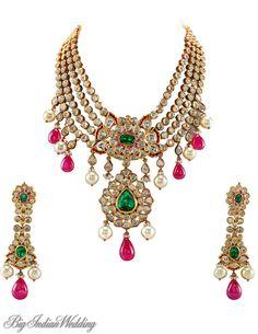 Preeti Jain kundan-meena set for Indian brides