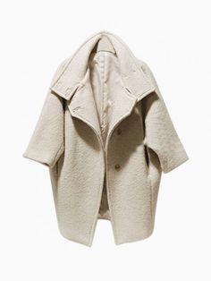 Beige Oversize Coat