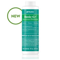 Basic-G+™ Germicide | All Purpose | Household Cleaning | Green Home | Shaklee US site Gallon Of Water, Product Label, Active Ingredient, Deodorant, Drink Bottles, Purpose, Household, Fragrance, Cleaning
