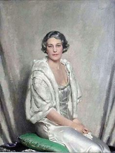 """""""Lady in Silk Dress with Pearls"""":  Howard Somerville."""
