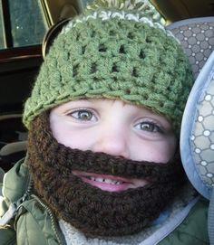 Instant Download Digital File PATTERN Crochet Pattern Beard Hat for Child  Three Sizes Crochet Beard Hat 0a3a525d3df
