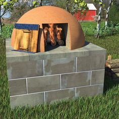 Bread oven. I think we need to make one of these for as much bread as we make. Instructions on this site.