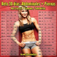 Consigue la combinación perfecta de abdominales y piernas con este nuevo reto de 30 días.
