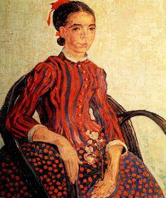 Vincent Van Gogh - Post Impressionism - Arles - La Mousmé - 1888