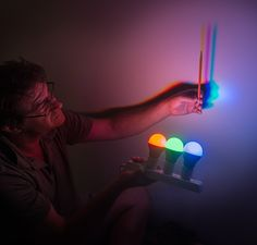 Science activity that demonstrates perception of additive color mixtures Shadow Photography, Light Photography, Color Photography, Reggio Emilia, Additive Color, Warehouse Design, Science Activities For Kids, Science Experiments, Shadow Art