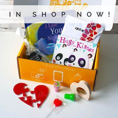 ❌⭕️❤️Just in time for Valentine's Day!...Our Hugs and Kissed Board Book Crate is up in the shop! It comes with 2 board books: Hugs and Kisses and I Love You Night and Day. One hands-on heart felt puzzle from a Schoolhouse Boutique, a heart wooden teether from @littlesaplingtoys, a Valentine craft kit with suckers, stickers, and stamps, and chocolate-covered pretzels from @mrscallscandy! This crate is perfect for readers 0-2. . Update: our Picture Book and YA crates renew tonight! We are…