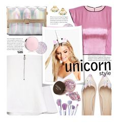 """Yoins Preppy: Unicorn Style"" by beebeely-look ❤ liked on Polyvore featuring ASOS, Guerlain, Boohoo, Chanel, preppy, metallic, springfashion, yoinscollection and unicornmakeup"