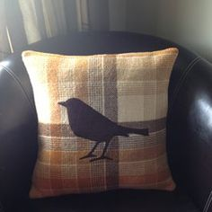 Brown bird blanket cushion for sale on Trade Me, New Zealand's auction and classifieds website Diy Cushion, Cushion Covers, Cushions For Sale, Brown Bird, Kiwiana, Wool Blanket, Sewing Projects, Lounge Ideas, Throw Pillows