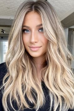Blonde Hair Shades, Blonde Hair Looks, Brown Blonde Hair, Fall Blonde, How To Make Blonde Hair Darker, Try On Hair Color, Blonde Brunette Hair, Long Blond Hair, Blonde Hair With Dark Roots