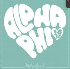 Alpha Phi Shirts, Heart Shirt