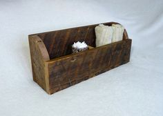 Rustic Organizer Box - Made from reclaimed barn wood.