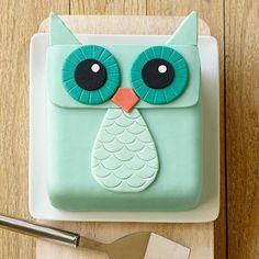 Owl simple cake