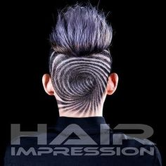 Hypnotic swirl. Cool More Undercut Hairstyles, Boy Hairstyles, Haircuts, Shave Designs, Short Hair Cuts, Short Hair Styles, Undercut Hair Designs, Hair Men Style, Shaved Hair Designs