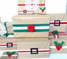 #Pacchi #regalo #Natale con cintura