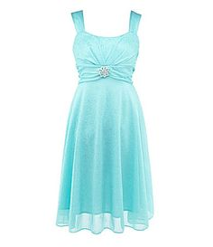 Flower girl  Ruby Rox 716 Glitter Matte Jersey Dress #Dillards