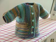 Baby surprise jacket as per Elizabeth Zimmerman's pattern