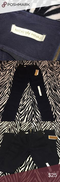 Nicki Minaj Jeans Slim/tight fight. Size small. Never worn w tags. Flash in the pics make the jeans look navy blue but they look more black in person. nicki minaj Pants Straight Leg