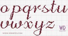 Resultado de imagen para ponto cruz alfabeto estrela