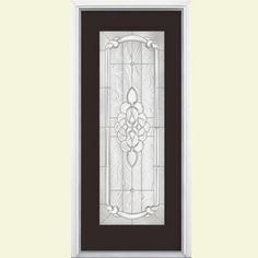 Masonite Oakville Full Lite Painted Smooth Fiberglass Entry Door with Brickmold-40543 at The Home & 36 in. x 80 in. Oakville Full Lite Painted Smooth Fiberglass Prehung ...