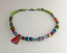 Jan ABS - ArtIncendi, Pinocean, Ckoop  asymmetrical boho necklace  by WinterBirdStudio