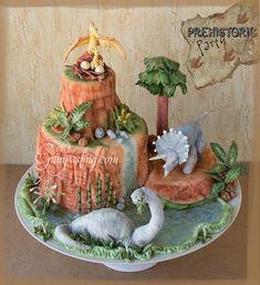 dinosaur volcano cake - Google Search