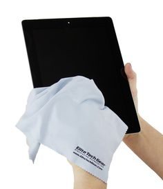Elite Tech Gear Microfiber Cleaning Cloths can clean every screen. Ipad cleaner, blue, apple, tech, technology, screen, clean