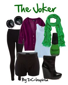 """The Joker"" by dc-fashion ❤ liked on Polyvore featuring American Apparel, American Vintage, Sodamix, Koolaburra, Crumpet, comic books, batman, dc comics, comics and the joker"